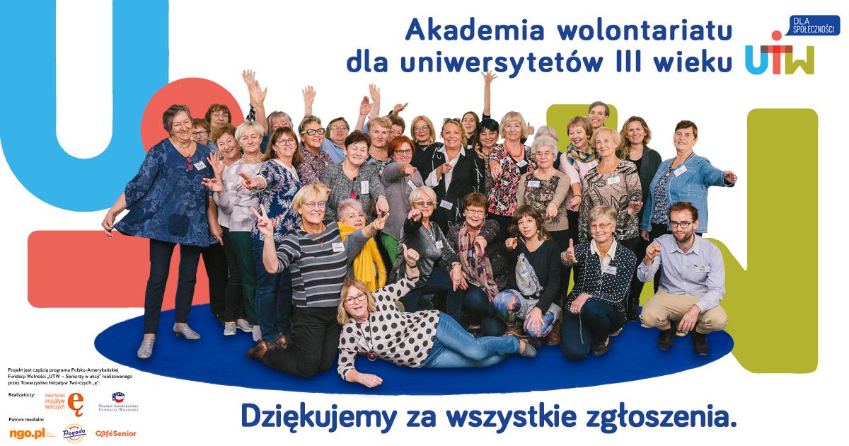 """Wyniki naboru do VIII edycji projektu """"UTW dla społeczności"""""""