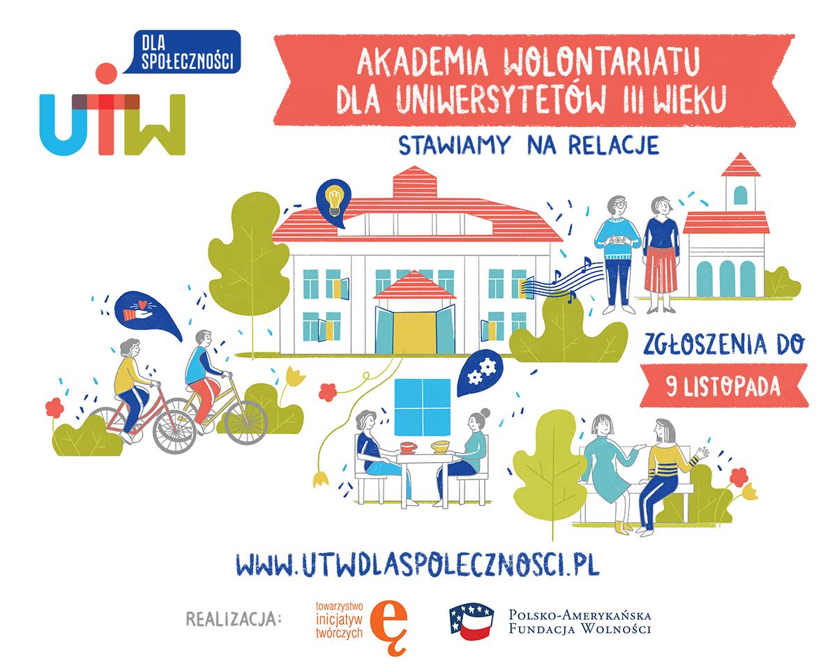 """Otwieramy rekrutację do IX edycji projektu """"UTW dla społeczności"""""""